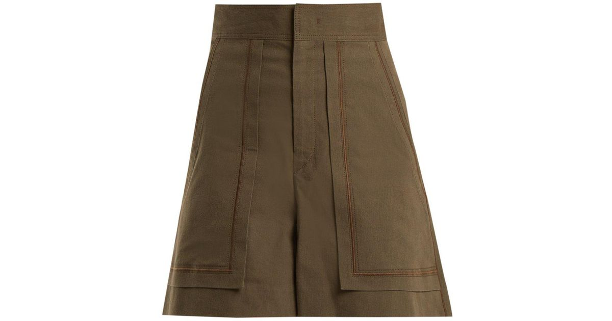 26c5e2ea6a Isabel Marant Lucky A Line High Waist Shorts in Green - Lyst