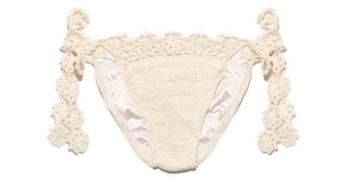 Sweet Innocence crochet bikini briefs Anna Kosturova Free Shipping Low Cost 100% Original Sale Online Cheap Sale Fast Delivery Best Prices uG8qUcdI
