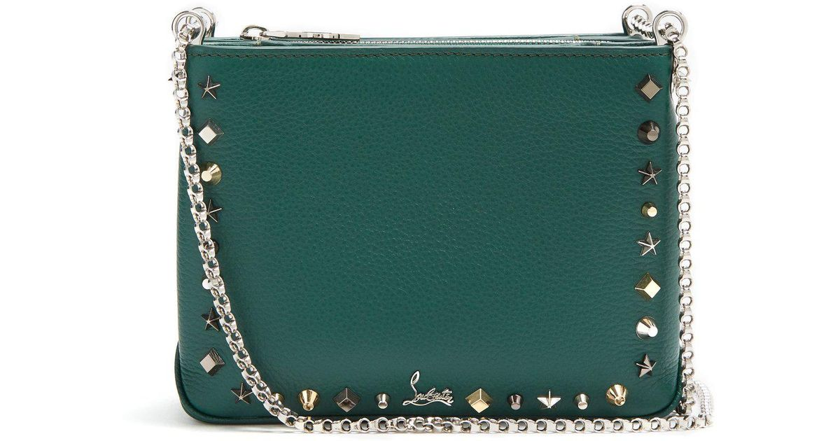 f07f47d8cae Christian Louboutin Green Triloubi Small Leather Cross-body Bag