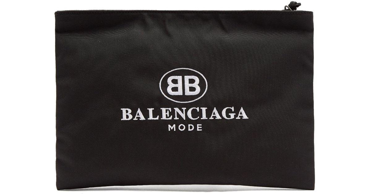 Logo Brodé Balenciaga Sac-toile Enduite Acheter Pas Cher Sast populaire Wiki En Ligne XvjHiy
