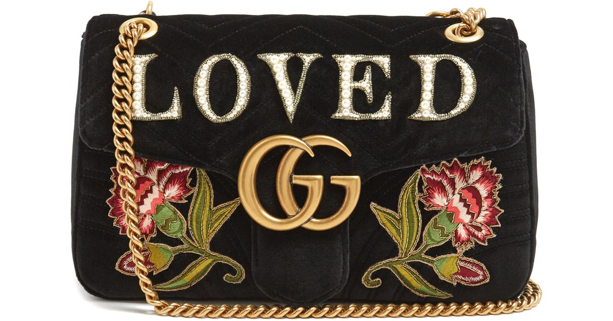92c1d964153 Gucci GG Marmont 2.0 Loved Medium Quilted Shoulder Bag in Black - Lyst