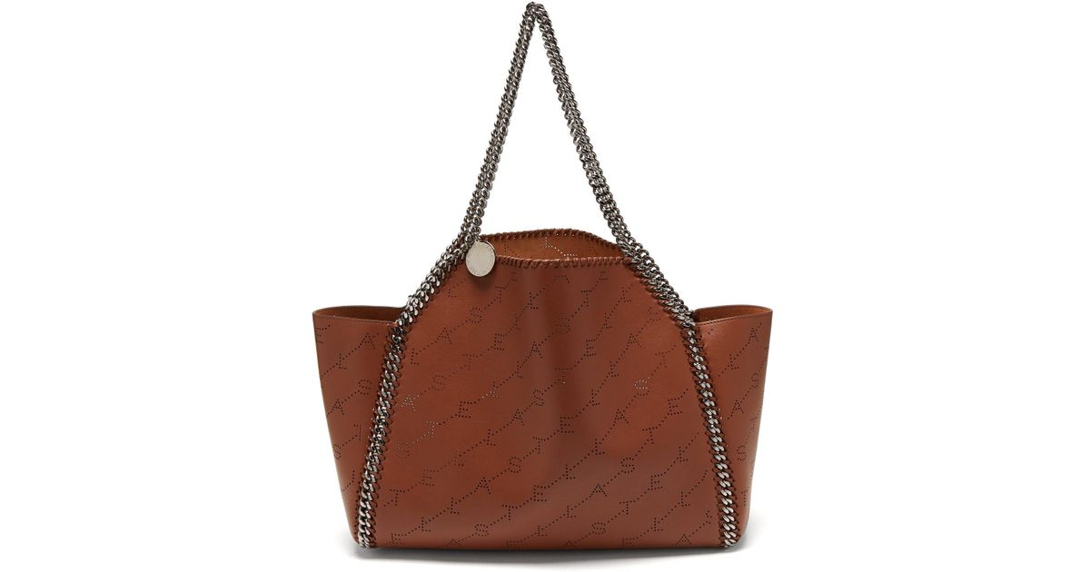 81a9b02618 Lyst - Stella McCartney Falabella Reversible Faux Leather Tote in Brown