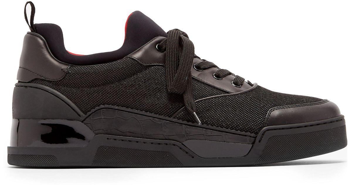mieux aimé 776ac cc44b Baskets basses en cuir Aurelien Christian Louboutin pour homme en coloris  Black