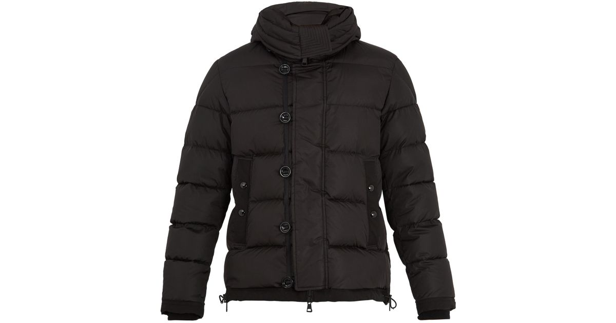 moncler black down shearling pyrenees jacket