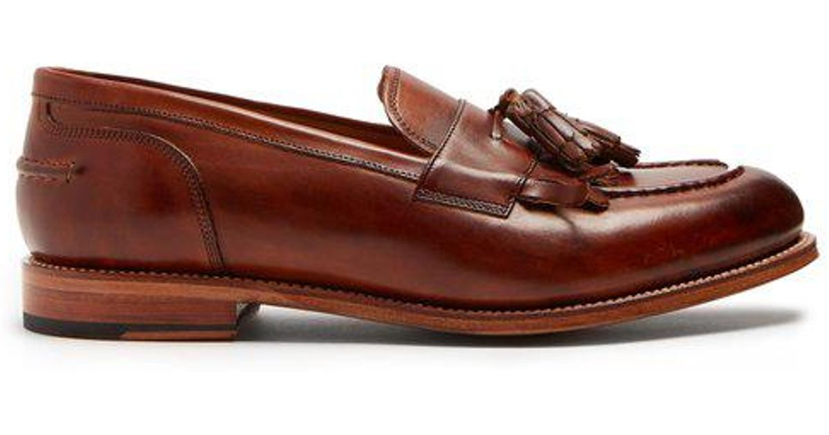 c76b6ba6693 Grenson Mackenzie Leather Tassel Loafers in Brown for Men - Lyst