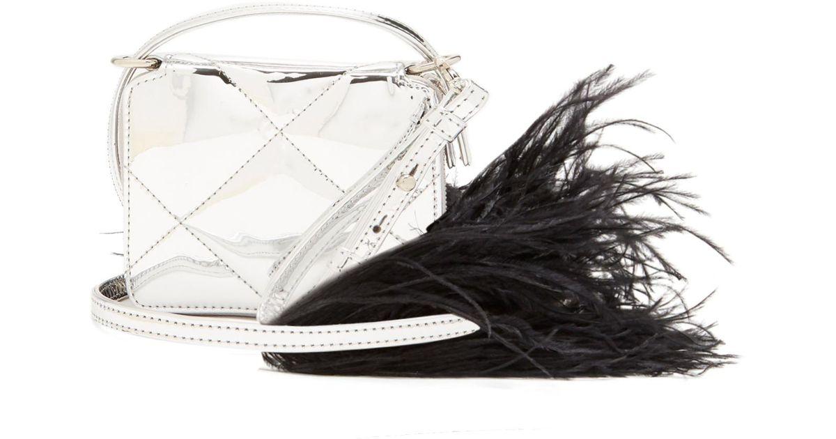 Feather-embellished quilted cross-body bag Marques Almeida KKozbvDDp
