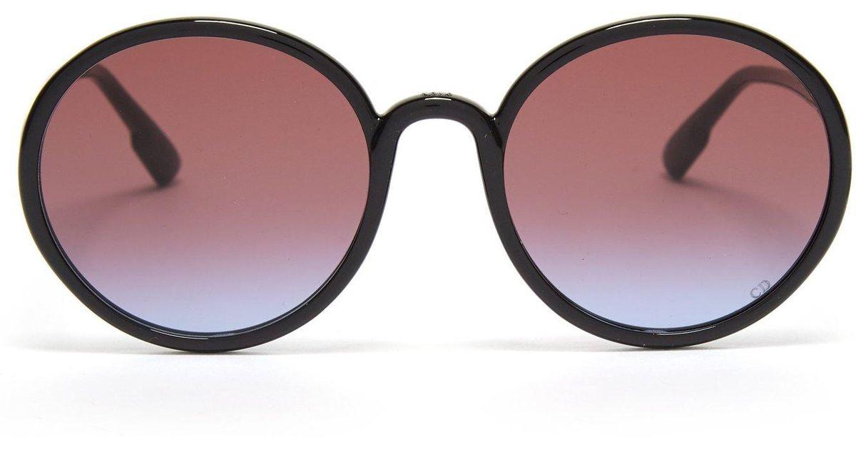 03c56b602a581 Dior Sostellaire1 Round Frame Acetate Sunglasses in Black - Lyst