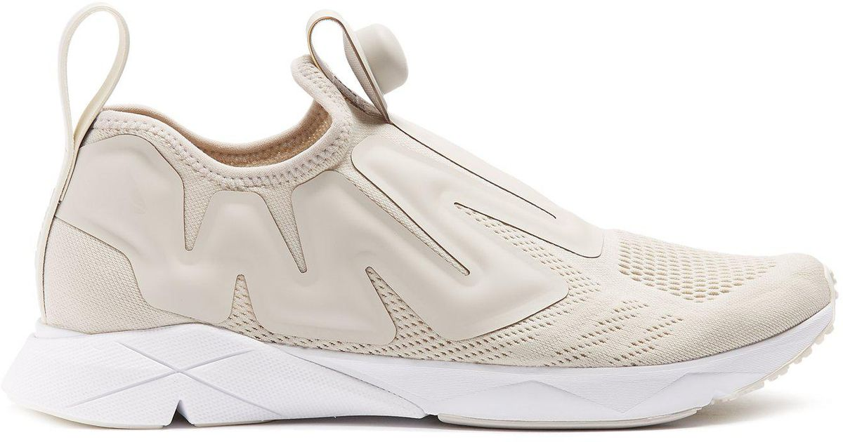 Lyst - Reebok Pump Supreme Low-top Mesh Trainers in White for Men a80d7f416c