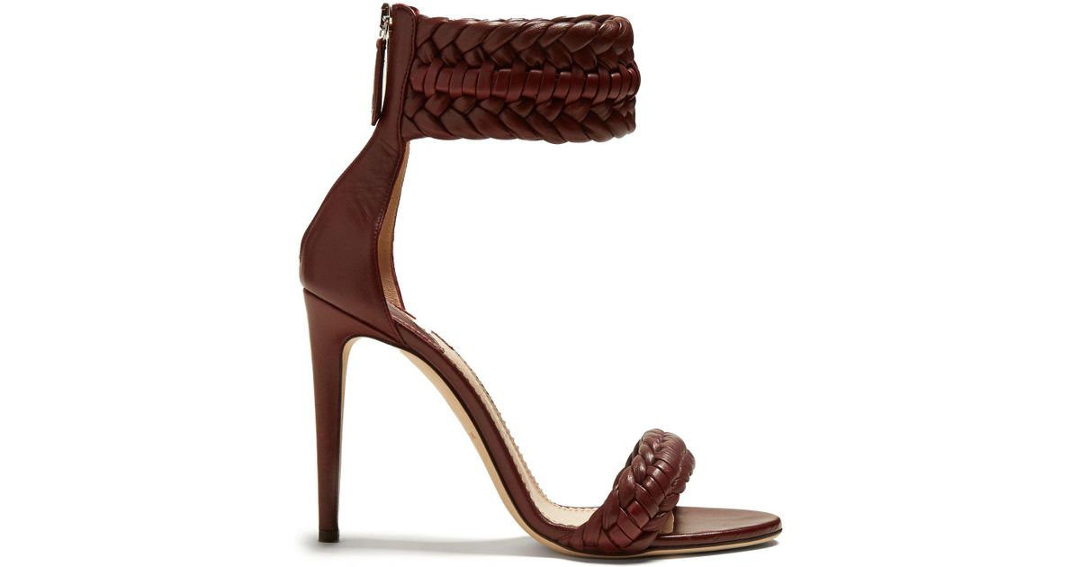 b8989d2869cc1 Altuzarra Ghianda Braided Detailed Heeled Sandals - Lyst