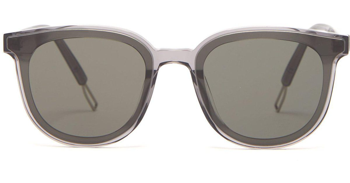 53ba5612d2be Lyst - Gentle Monster Round-frame Acetate Sunglasses in Gray for Men