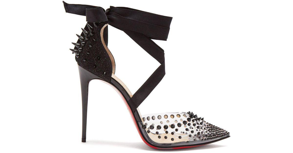 buy popular 600ca e820f Christian Louboutin Black Mechante Reine 100 Stiletto Heels