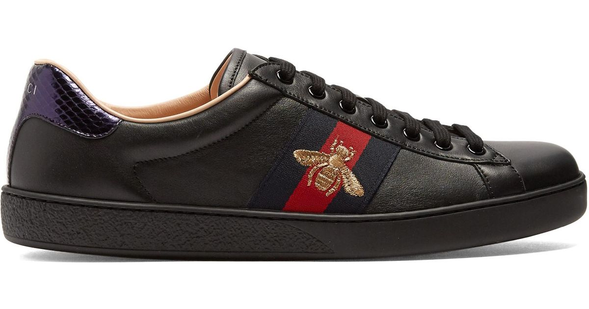 5dffc54e7f6 Lyst - Gucci Ace Bee Sneakers in Black for Men - Save 15%