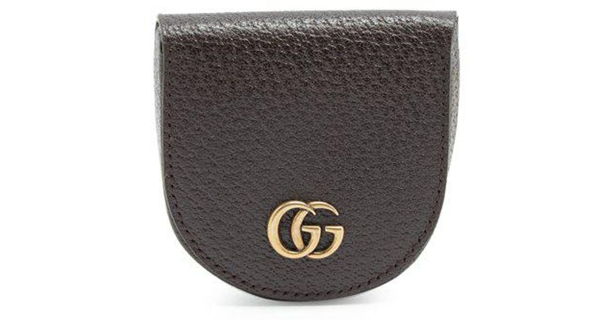 27806e027b17 Gucci Gg Marmont Grained-leather Coin Purse in Brown for Men - Lyst