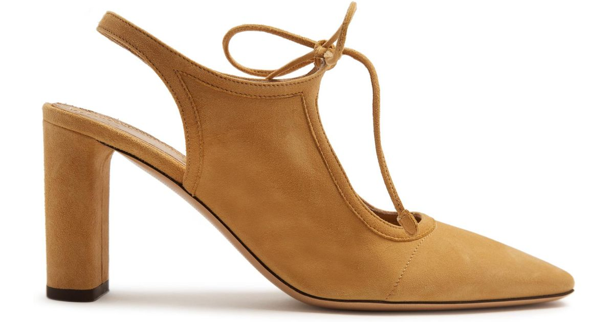 Womens Camil Suede Slingback Pumps The Row VhGZw