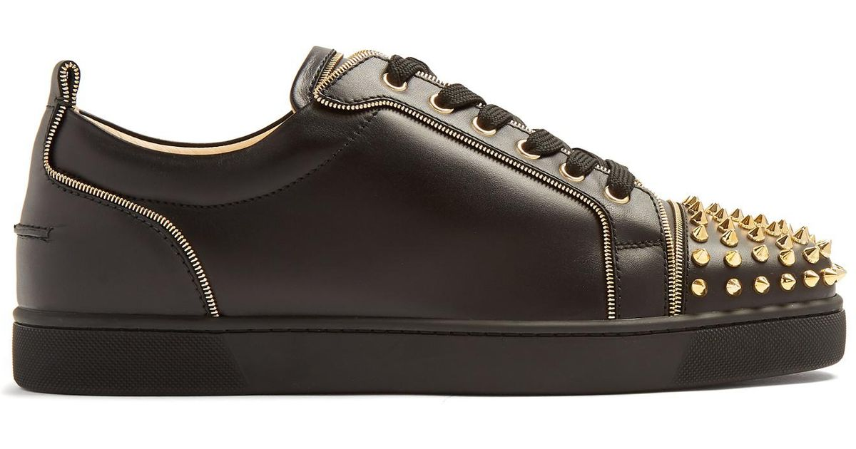 a22b523bb1f Lyst - Christian Louboutin Junior Zip Leather Trainers in Black for Men