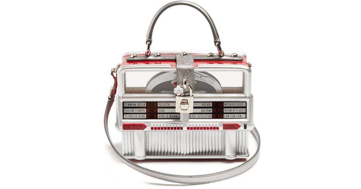 17fd35487c6e Lyst - Dolce   Gabbana Dolce Box Leather-trimmed Jukebox Bag
