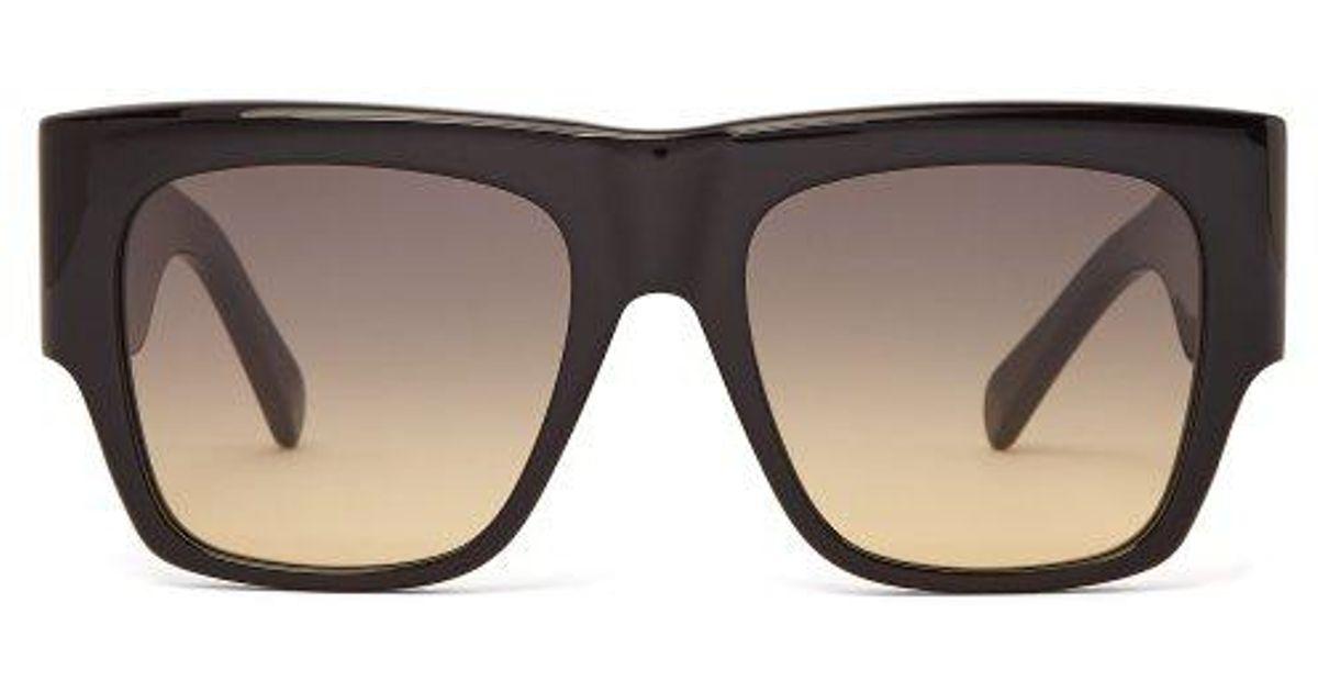 85457b858fa Céline Flat-top Acetate Sunglasses in Black - Lyst