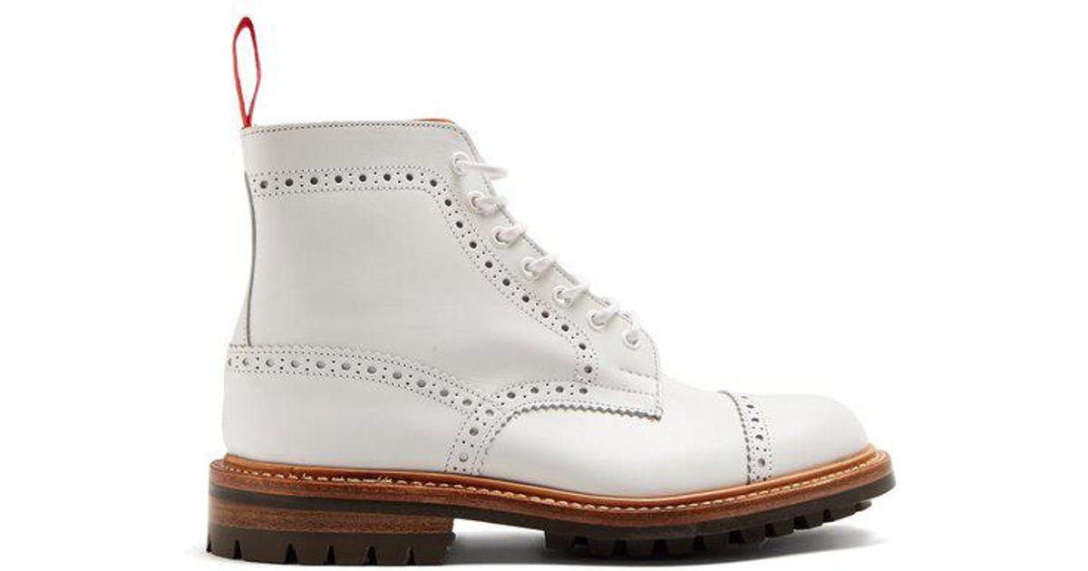 size 40 3a069 30227 ... Lyst - Junya Watanabe X Trickers Leather Ankle Boots in Whit get cheap  d1c5a 03ca6 ...