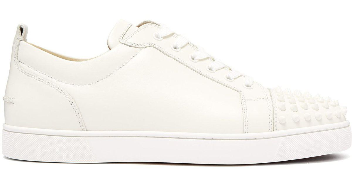 quality design e5b11 99f8f Christian Louboutin White Louis Junior Spike Embellished Leather Trainers  for men