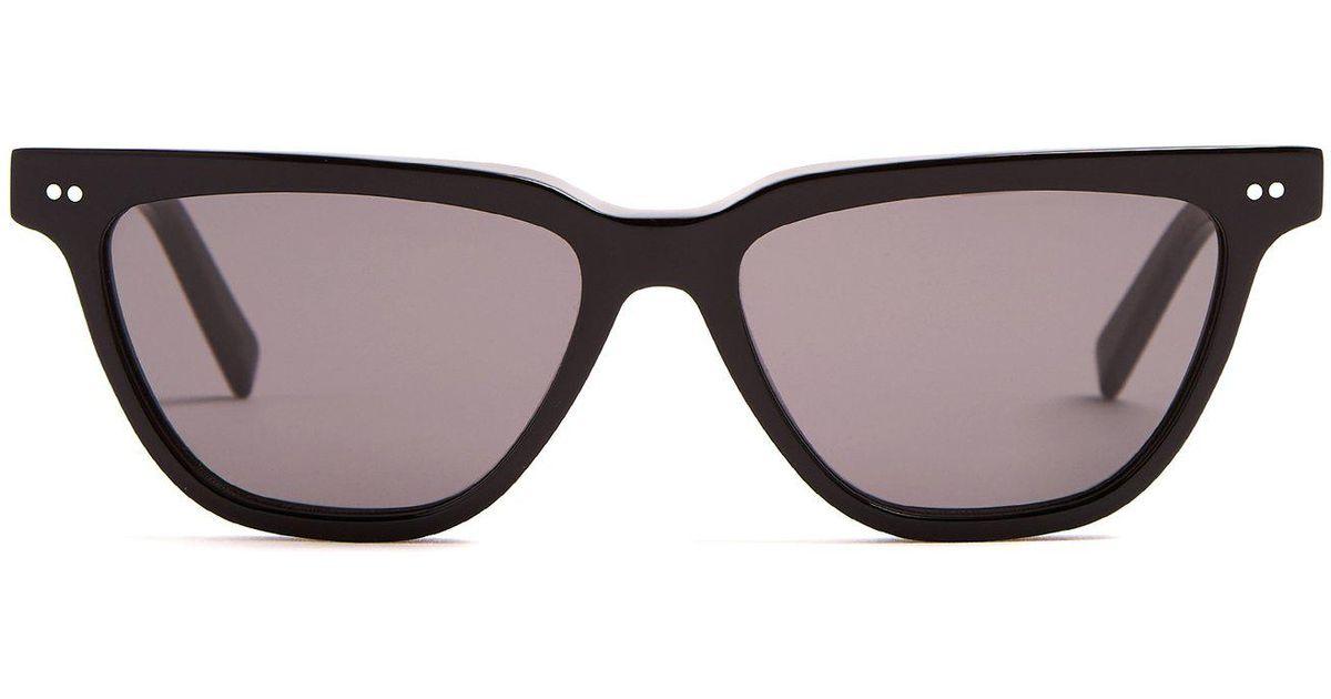 921db5031e Céline Rectangular Cat-eye Acetate Sunglasses in Black - Lyst