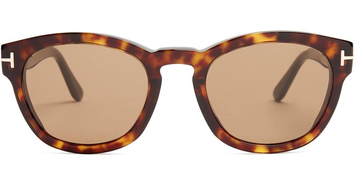 d253b553bd Tom Ford Bryan Square Frame Sunglasses in Brown for Men - Lyst