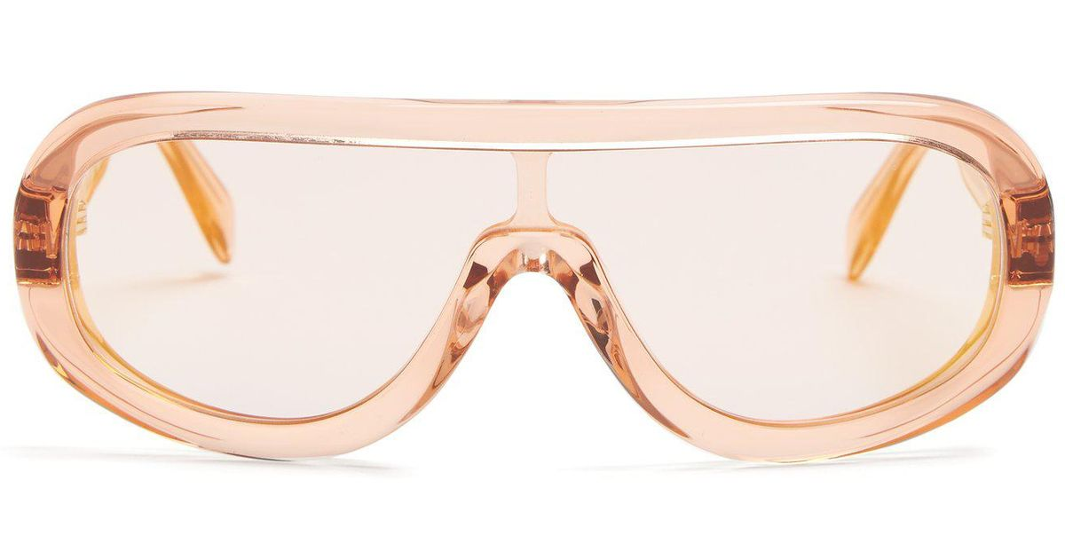 c209dcea34 Lyst - Céline Mask Acetate Sunglasses in Orange