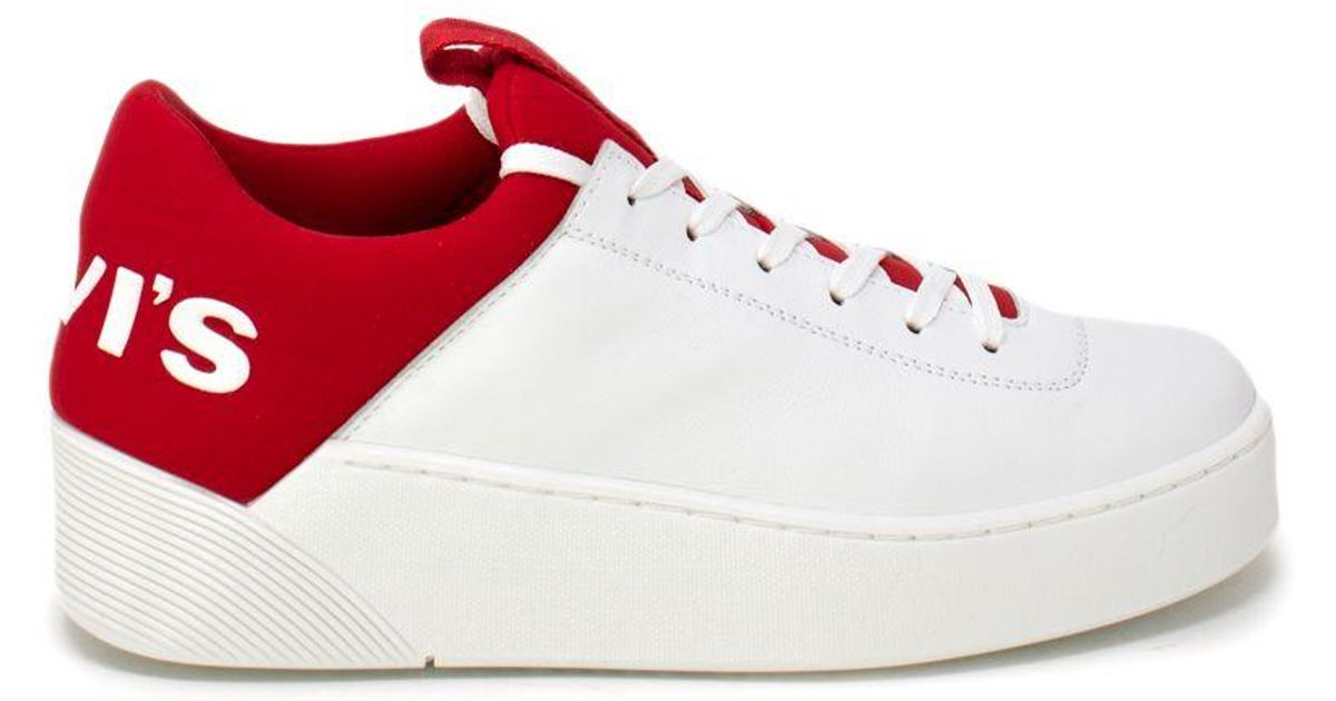 Levi's White Leather Sneakers - Lyst