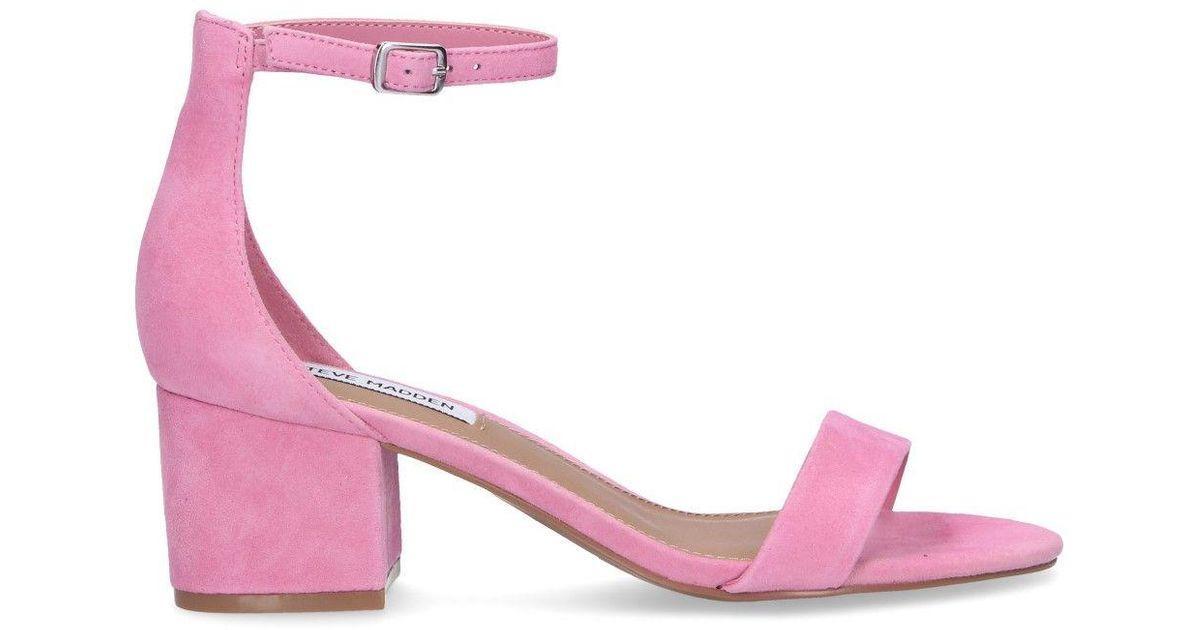 Steve Madden Pink Suede Sandals - Lyst