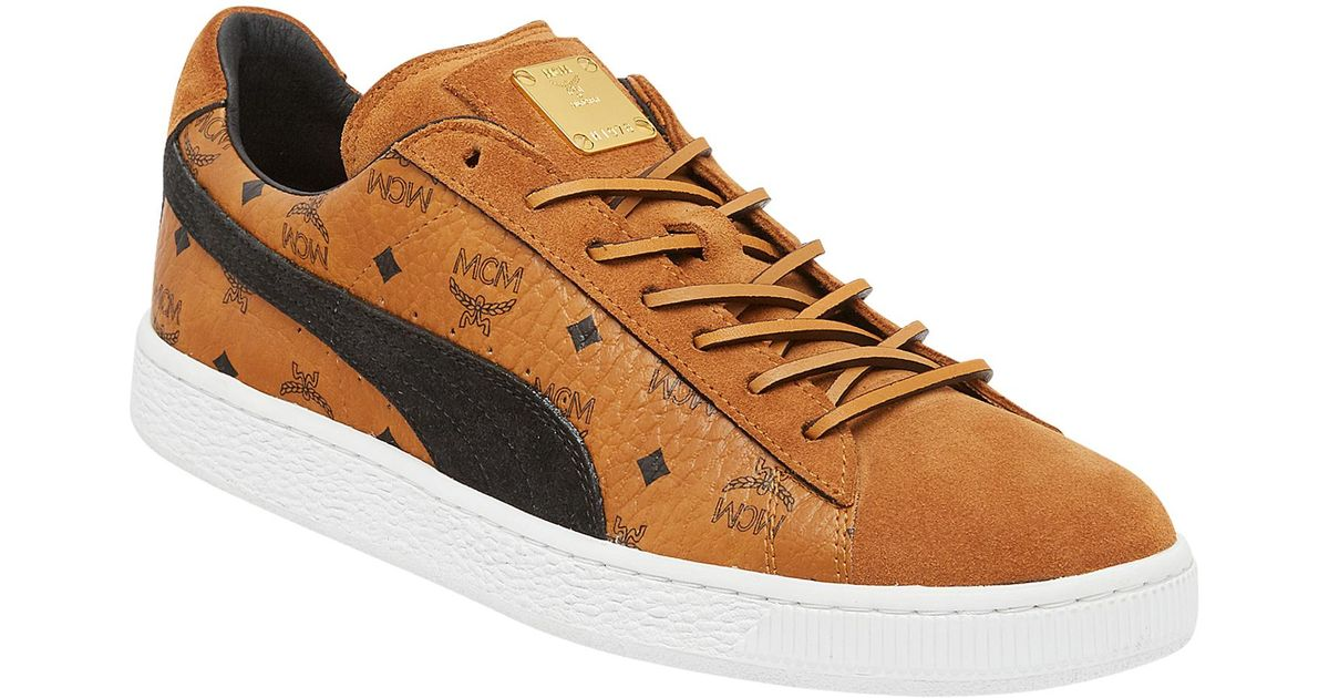 MCM Brown Puma X Suede Classic Sneakers