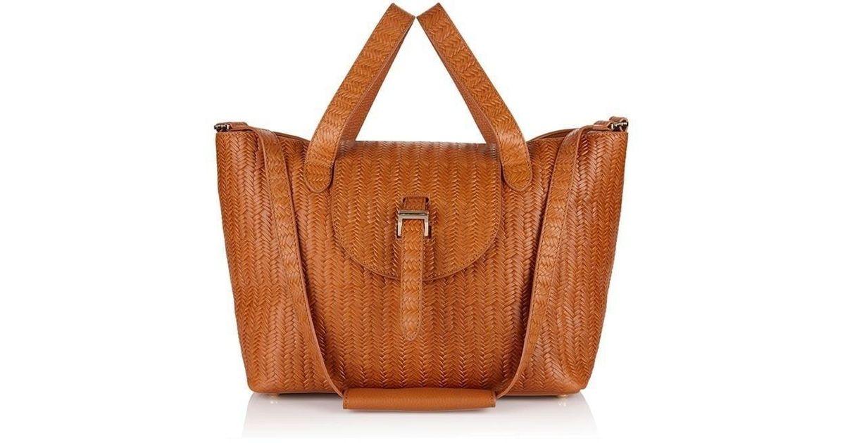 63abbfe8d5f1 Lyst - Meli Melo Thela Medium Tote Bag Tan Woven in Brown