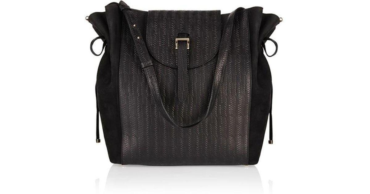 4e923ab7110a Lyst - Meli Melo Fleming Medium Tote Bag Black Woven in Black
