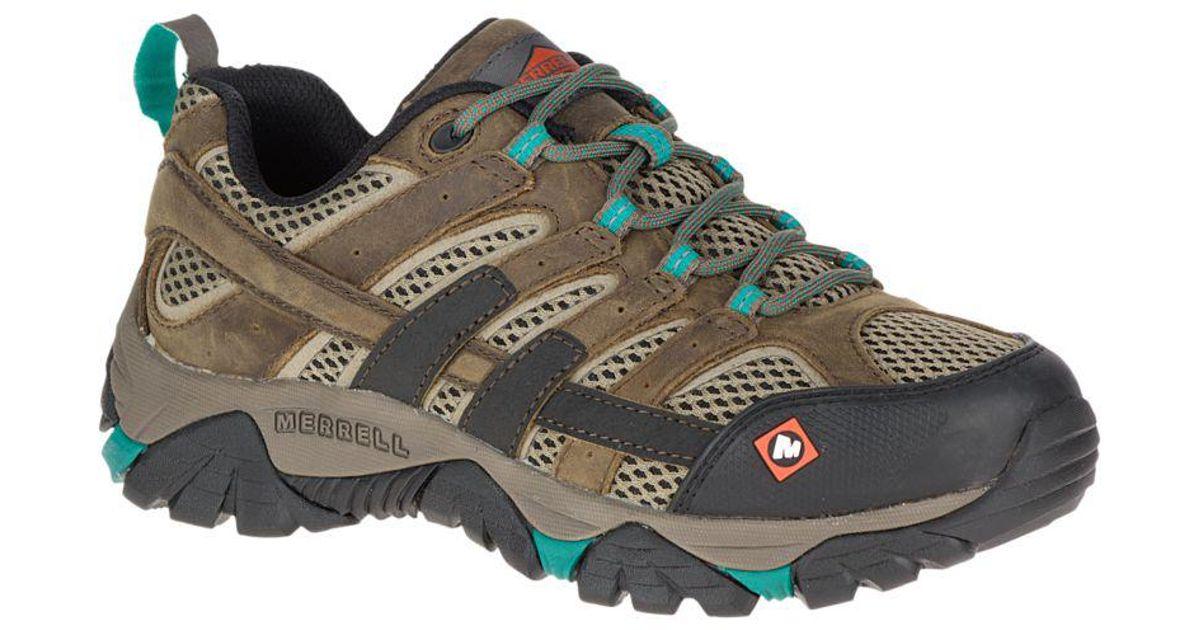 Merrell Leather Moab 2 Vapor Work Shoe