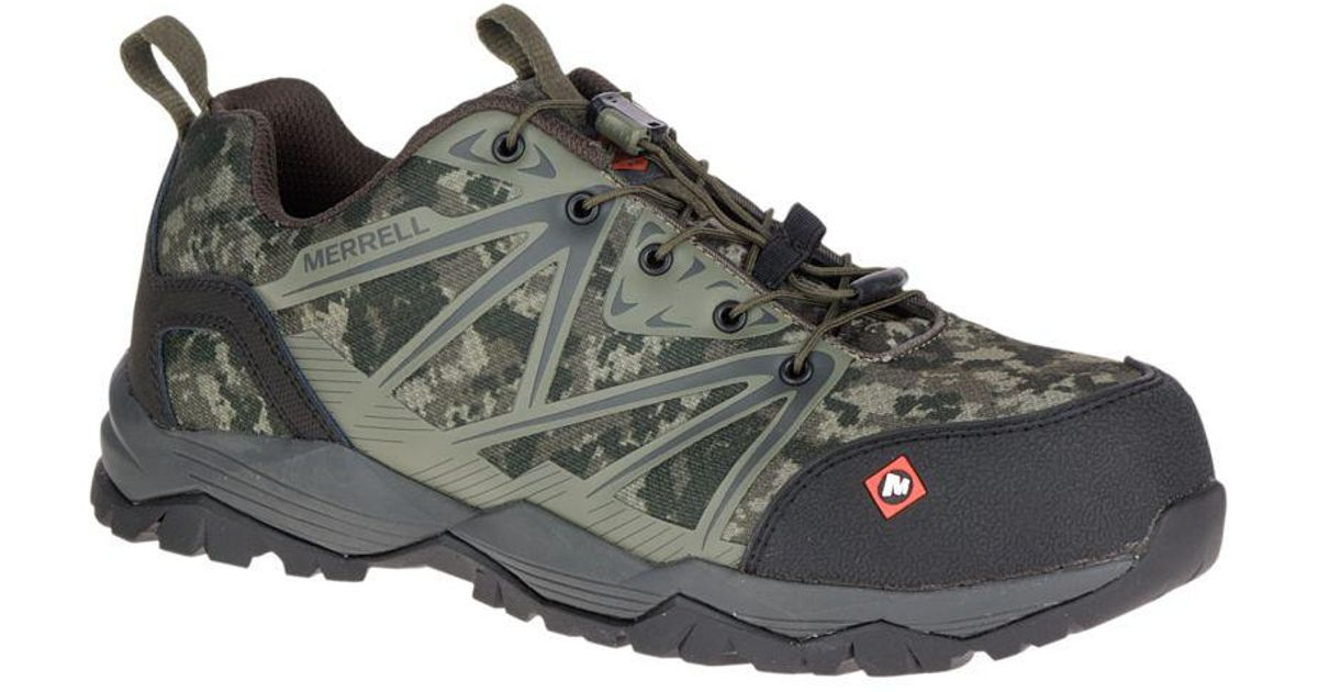 another chance united kingdom professional Merrell Multicolor Fullbench Comp Toe Work Shoe for men