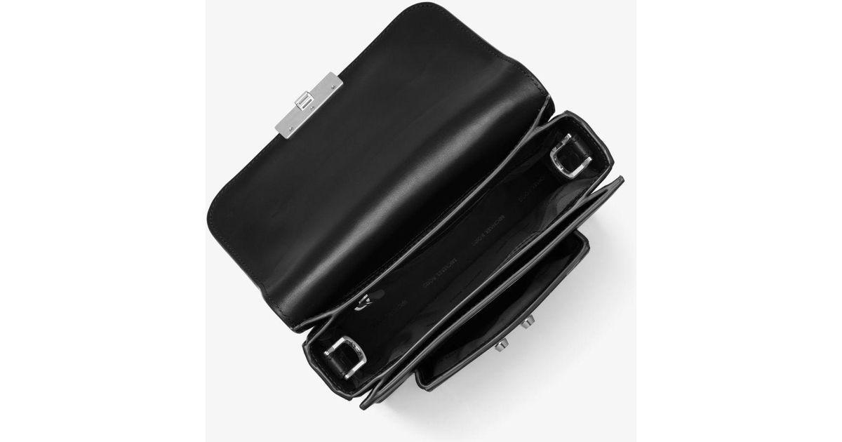 da0f71e520 Lyst - Michael Kors Sloan Editor Leather Messenger in Black