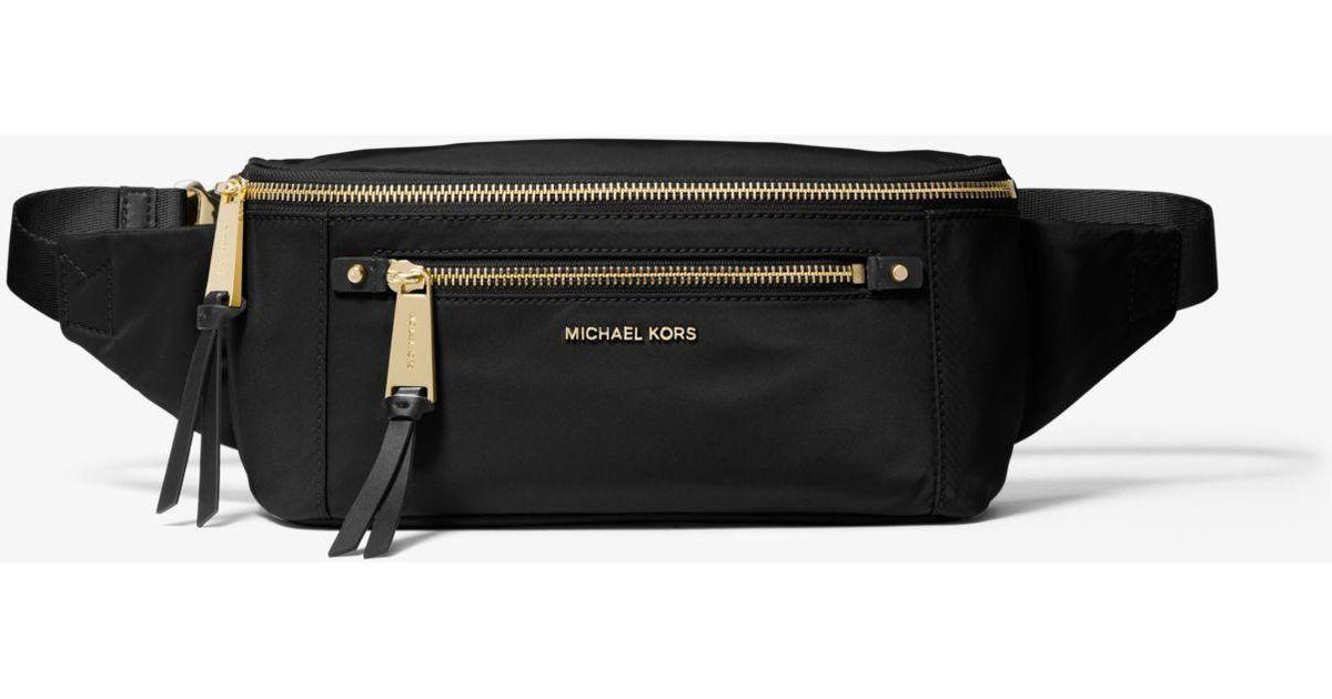 739626eb01df Lyst - MICHAEL Michael Kors Polly Nylon Belt Bag in Black
