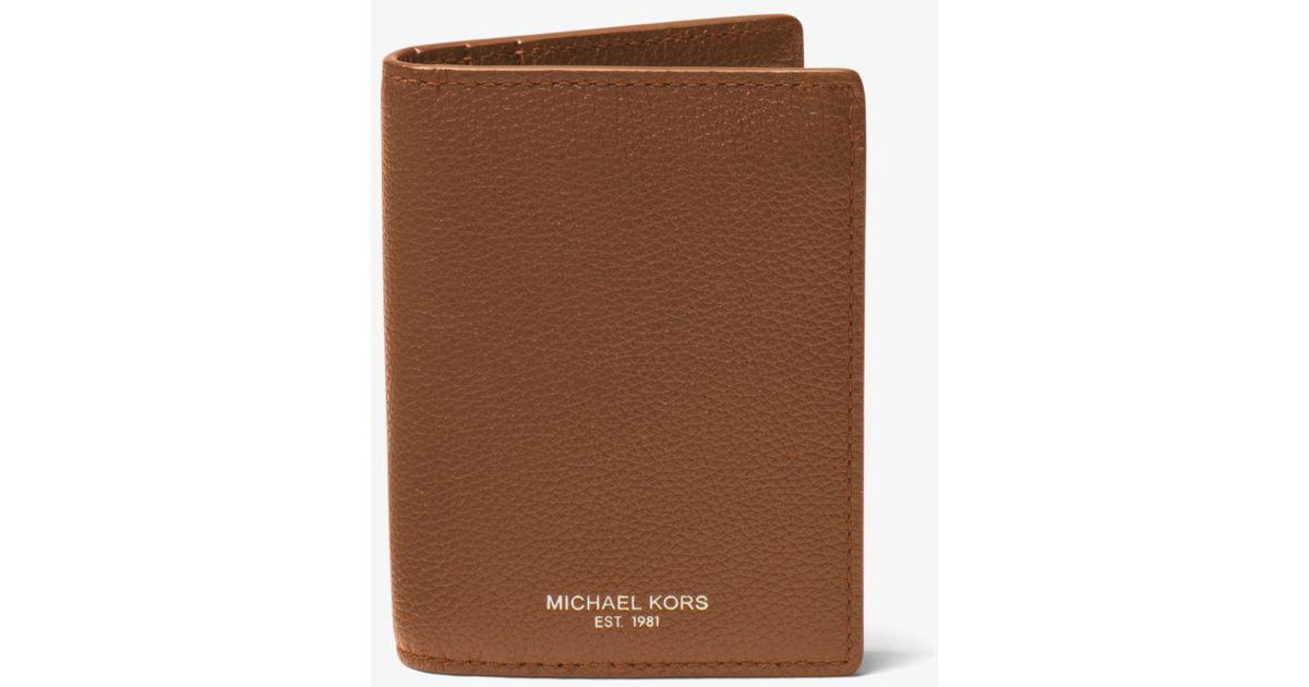1e2e856d88b75 Lyst - Michael Kors Bryant Leather L-fold Wallet in Brown for Men
