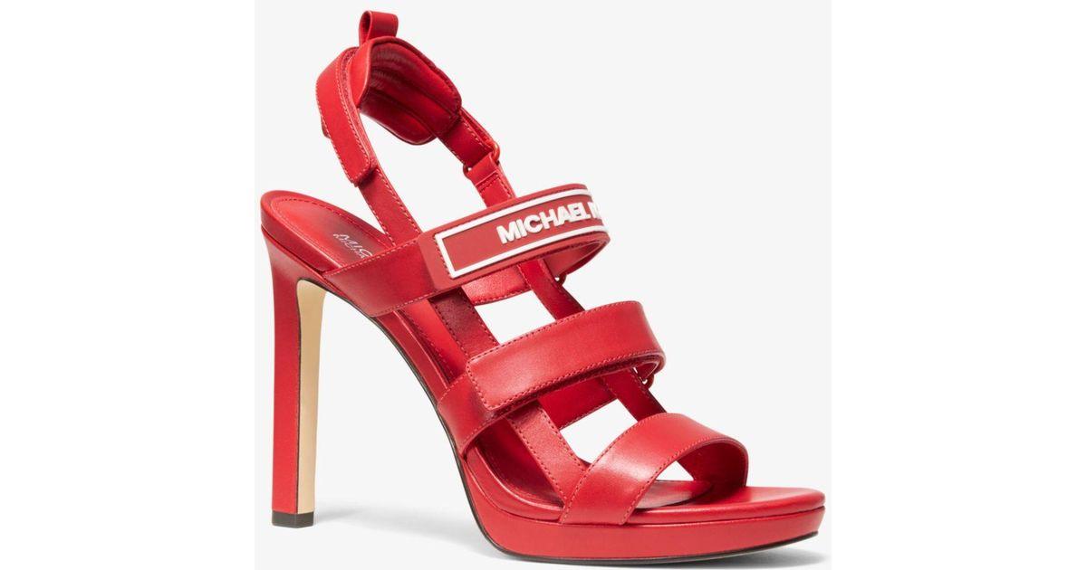 Michael Kors Demi Leather Sandal in