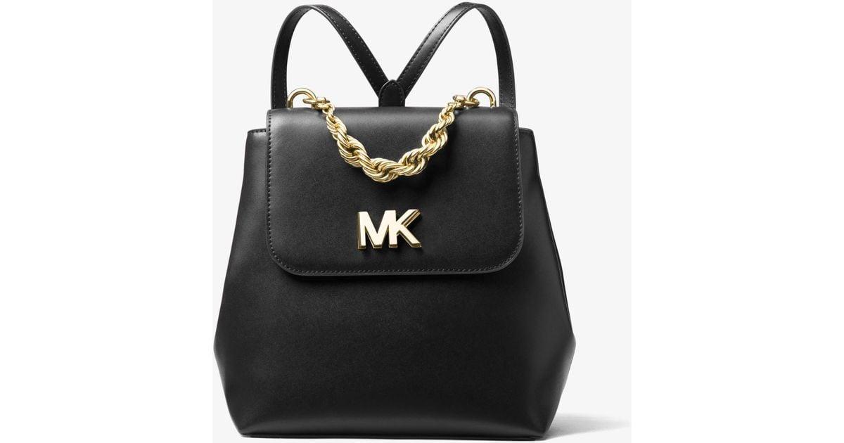 c5852260e7df Michael Kors Mott Leather Backpack in Black - Lyst