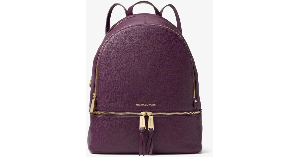 584f758af508 Michael Kors Rhea Medium Backpack in Purple - Lyst