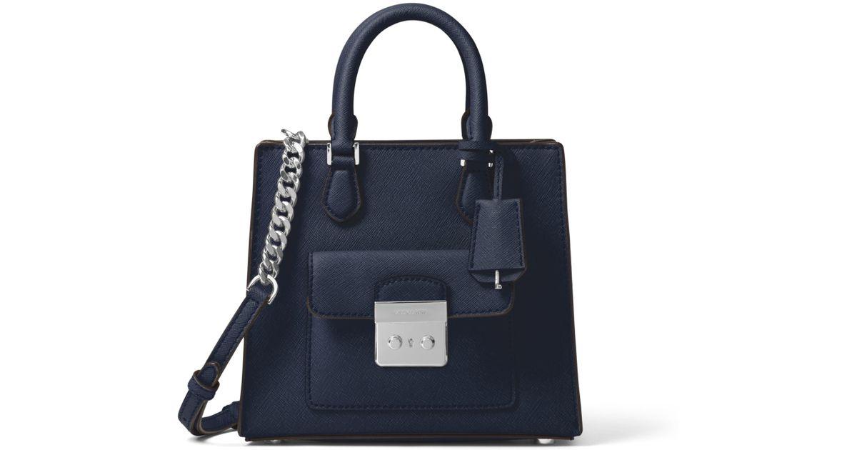 785d7277f75c01 Michael Kors Bridgette Small Saffiano Leather Crossbody Bag in Blue - Lyst