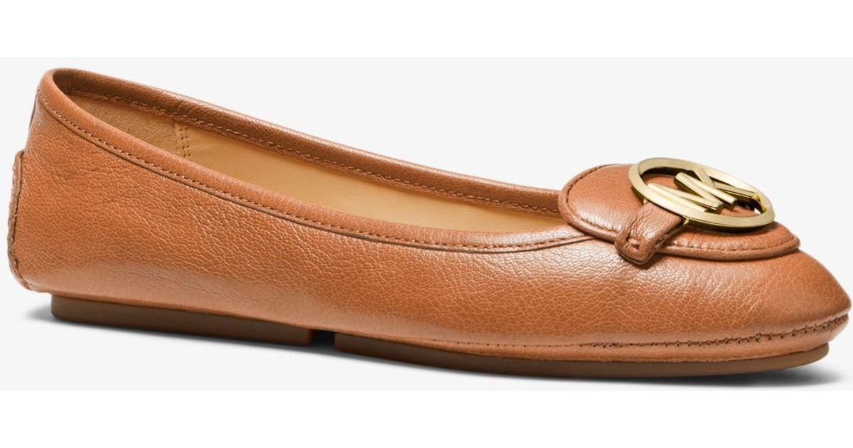 531a6c05895b Lyst - Michael Kors Lillie Leather Moccasin