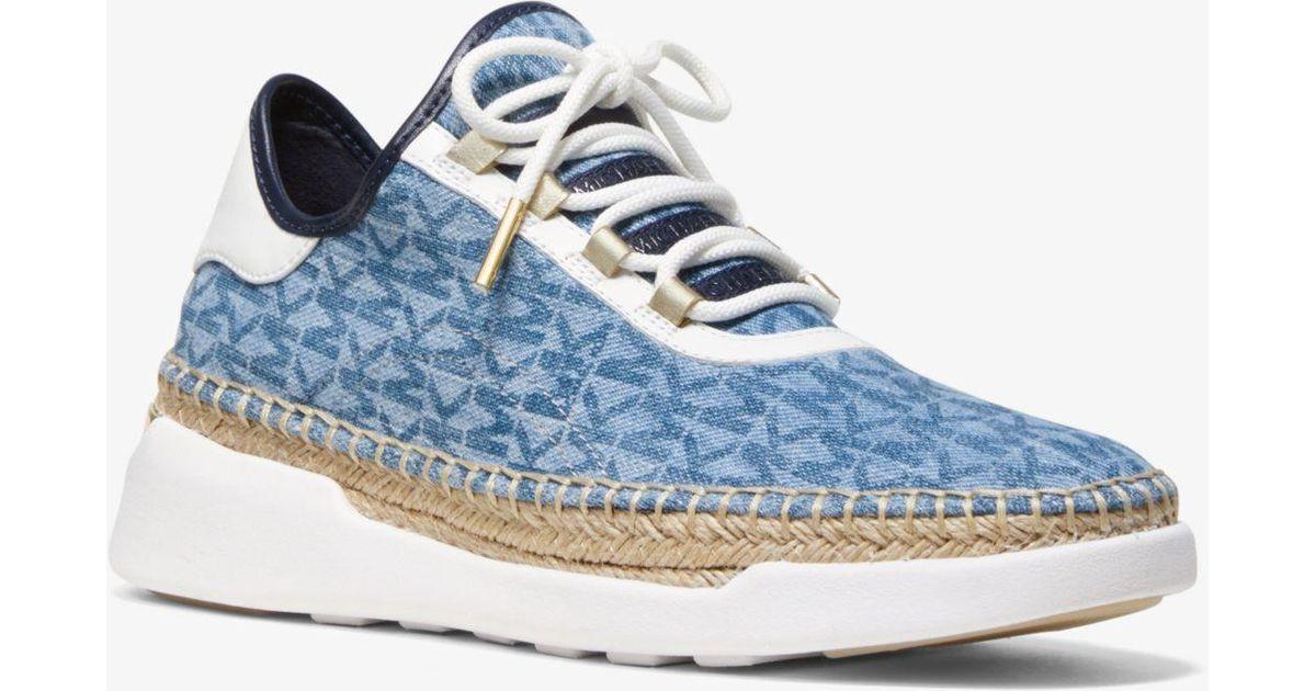 1e2fd811d25 Michael Kors Blue Finch Logo Denim Lace-up Sneaker