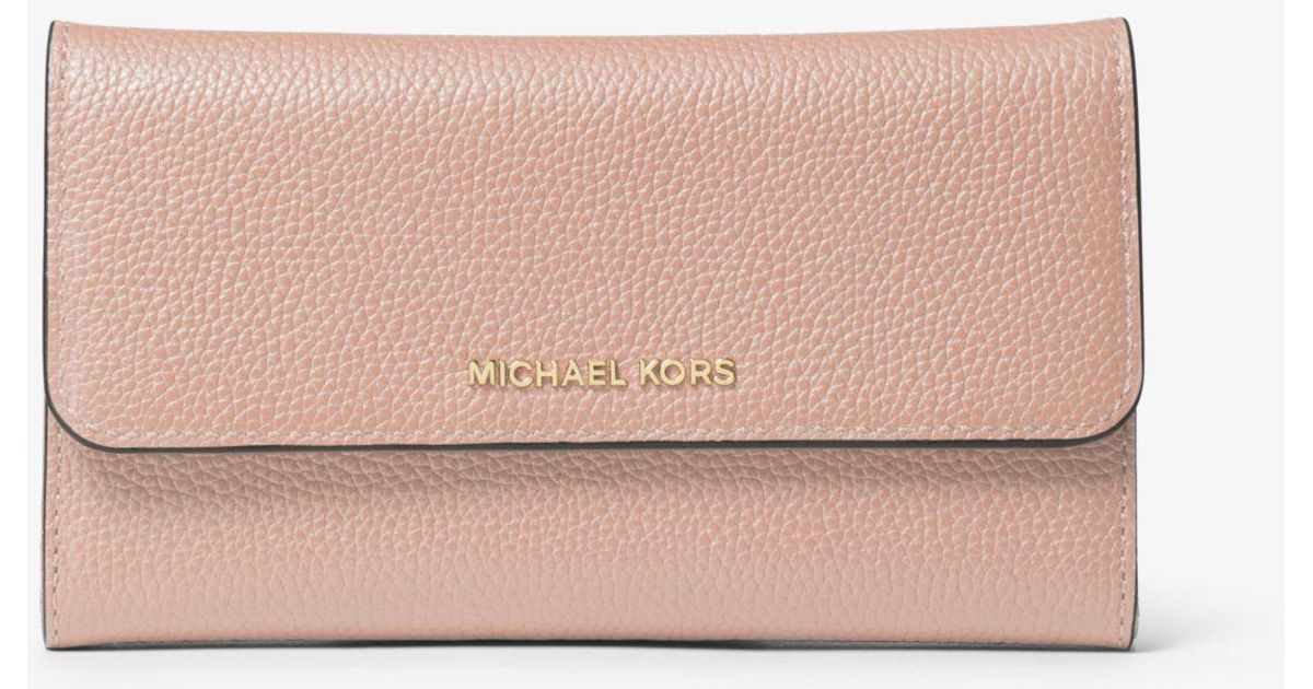 f722568a0e0f2 Lyst - Michael Kors Tri-fold Leather Wallet