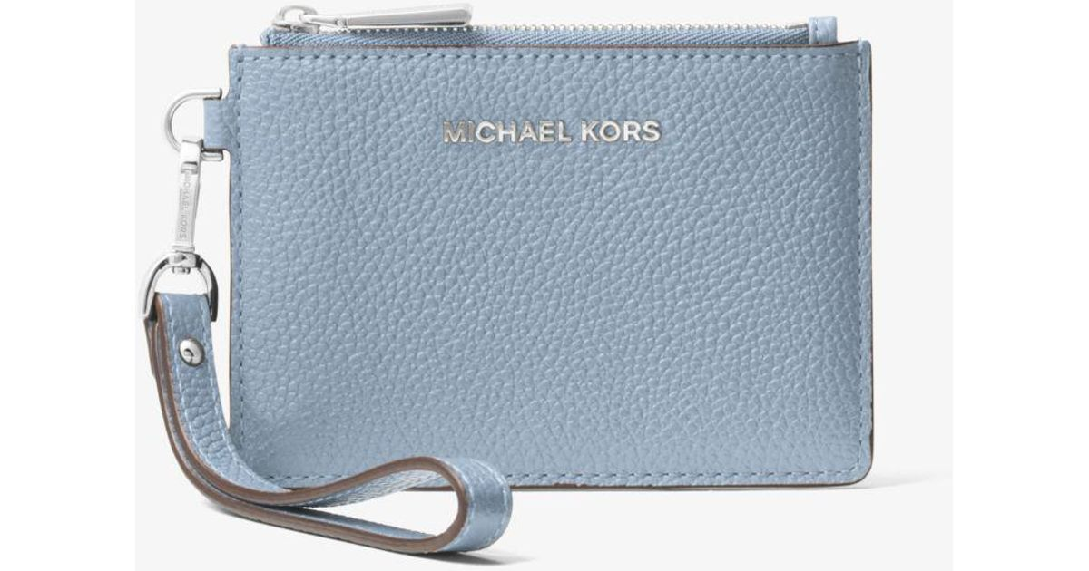 4670c3f22ef9 Michael Kors Leather Coin Purse in Blue - Lyst