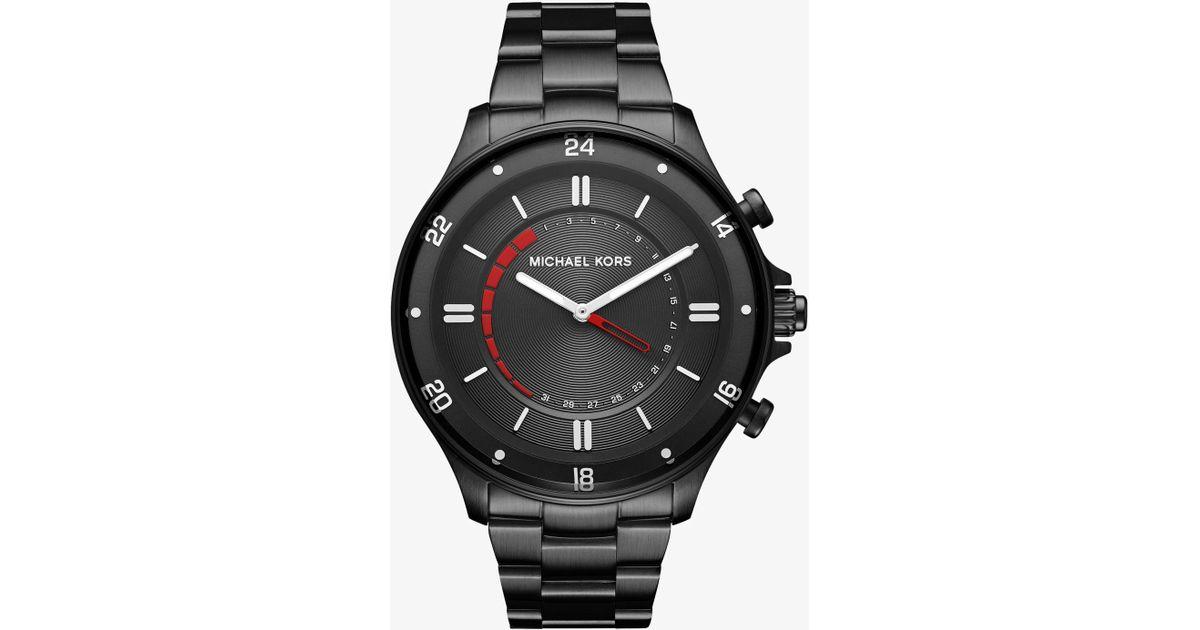 803a639252c7 Lyst - Michael Kors Reid Black-tone Hybrid Smartwatch in Black for Men