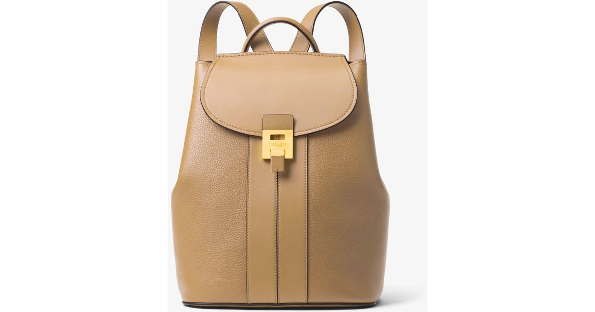 05f18c9f0bd5bd Michael Kors Bancroft Pebbled Calf Leather Backpack - Lyst