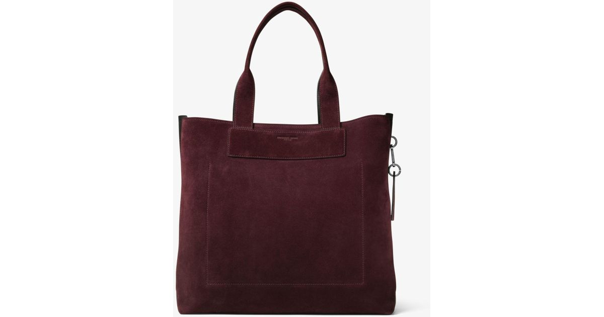 Lyst - Michael Kors Henry Large Suede Tote for Men 125b5d2df5942
