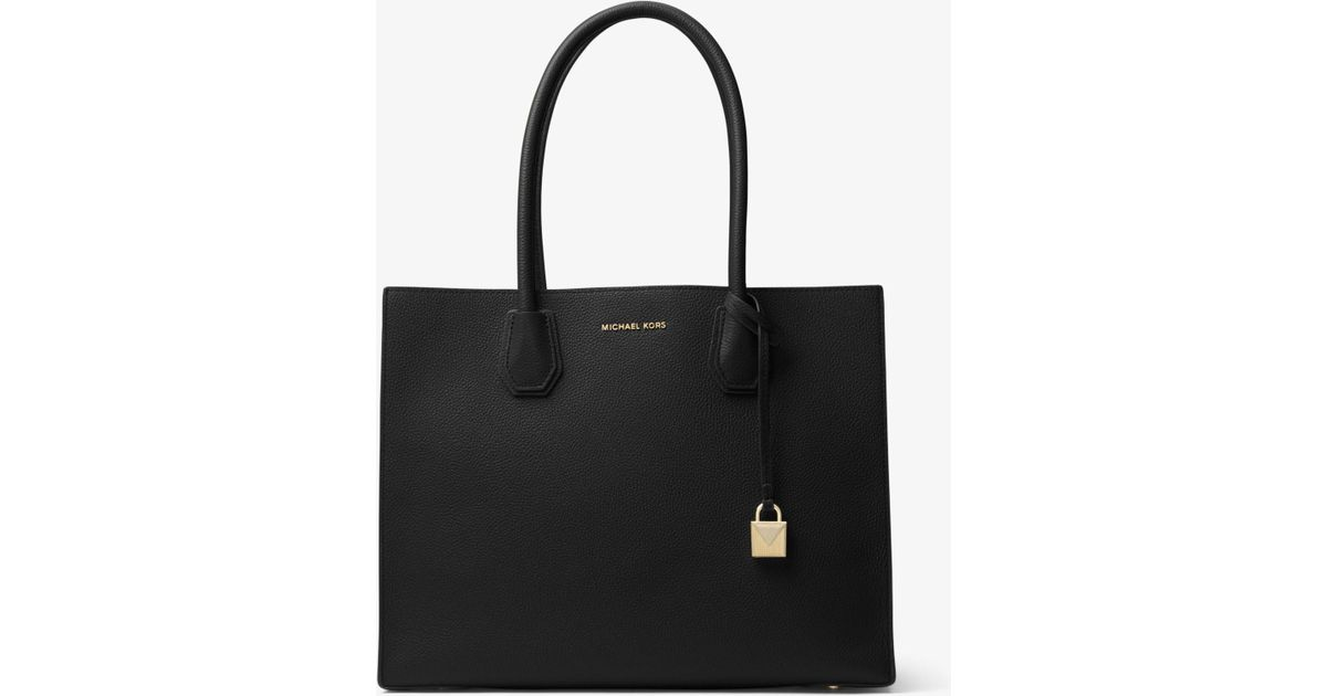 7abb7dffa91a0d Michael Kors Mercer Extra-large Leather Tote in Black - Lyst