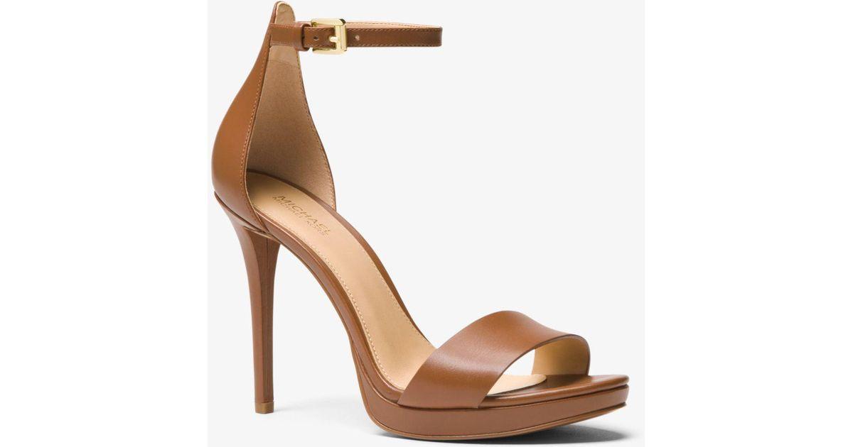 Michael Kors Hutton Leather Sandal - Lyst