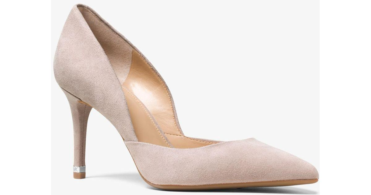 431b0b780565 Lyst - Michael Kors Ashby Suede Pump in Natural